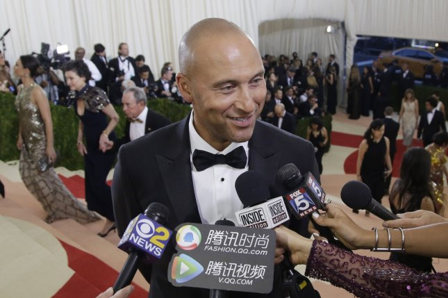 Former Yankees star Derek Jeter along with former Florida governor Jeb Bush won the auction to buy the Miami Marlins. File photo by John Angelillo/UPI