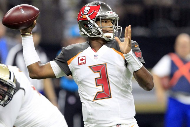 Tampa Bay Buccaneers quarterback Jameis Winston (3) throws against the New Orleans Saints at the Mercedes-Benz Superdome on November 5 in New Orleans. Photo by AJ Sisco/UPI