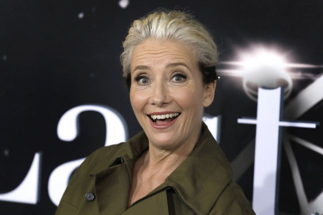Emma Thompson recalled how her husband, Greg Wise, thought their Sense and Sensibility co-star Kate Winslet was his future wife. File Photo by Peter Foley/UPI