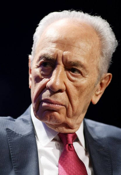 Israeli President Shimon Peres listens during the Peace and Beyond in the Middle East discussion at the sixth annual meeting of the Clinton Global Initiative on September 21, 2010 in New York. The Initiative brings together numerous current and former heads of state who make commitments to address global issues such as poverty, environment and social conditions. UPI /Monika Graff
