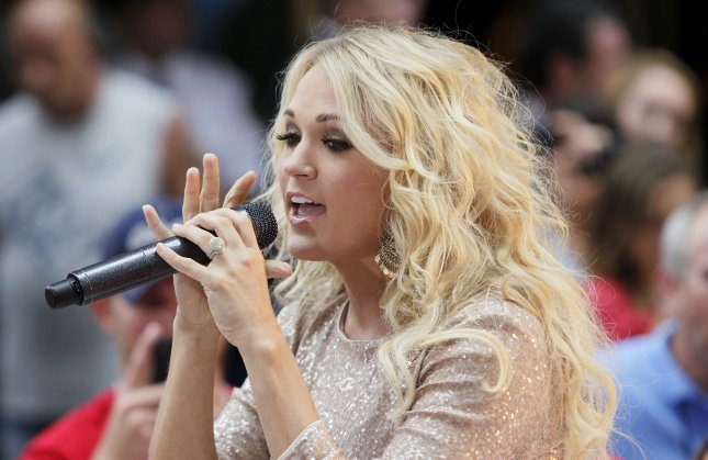 Carrie Underwood performs on the NBC Today Show at Rockefeller Center in New York City on August 15, 2012. UPI/John Angelillo