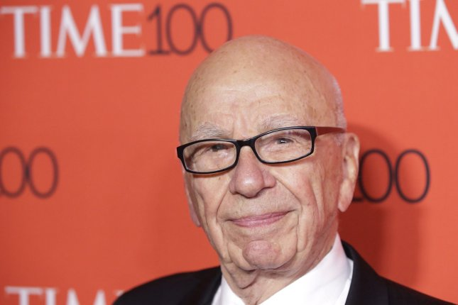 Rupert Murdoch arrives on the red carpet at the TIME 100 Gala at Frederick P. Rose Hall, Home of Jazz at Lincoln Center, in New York City on April 21, 2015. Murdoch is expected to step down as the CEO of 21st Century Fox. File Photo by John Angelillo/UPI