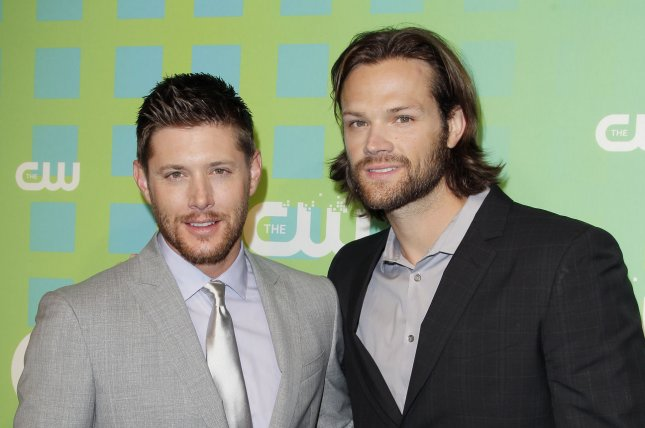 Supernatural stars Jensen Ackles and Jared Padalecki arrive at the CW Upfronts on May 17, 2012. The actors have discussed how they envision the long-running series ending. File Photo by John Angelillo/UPI