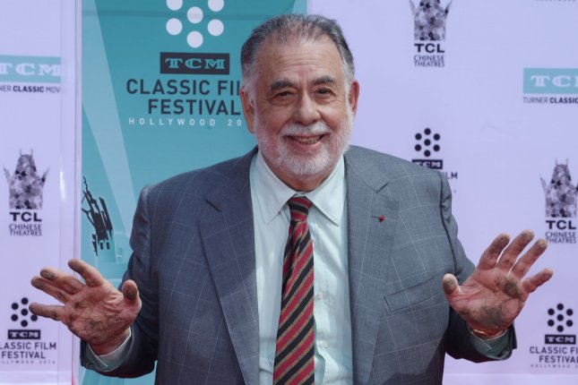Francis Ford Coppola participates in a hand and footprint ceremony immortalizing him in the forecourt of TCL Chinese Theatre in the Hollywood section of Los Angeles on April 29, 2016. The director turns 80 on April 7. File Photo by Jim Ruymen/UPI