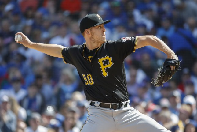 Pittsburgh Pirates starting pitcher Jameson Taillon was the No. 2 overall pick in the 2010 draft. He won 14 games with the Pirates in 2018. File Photo by Kamil Krzaczynski/UPI