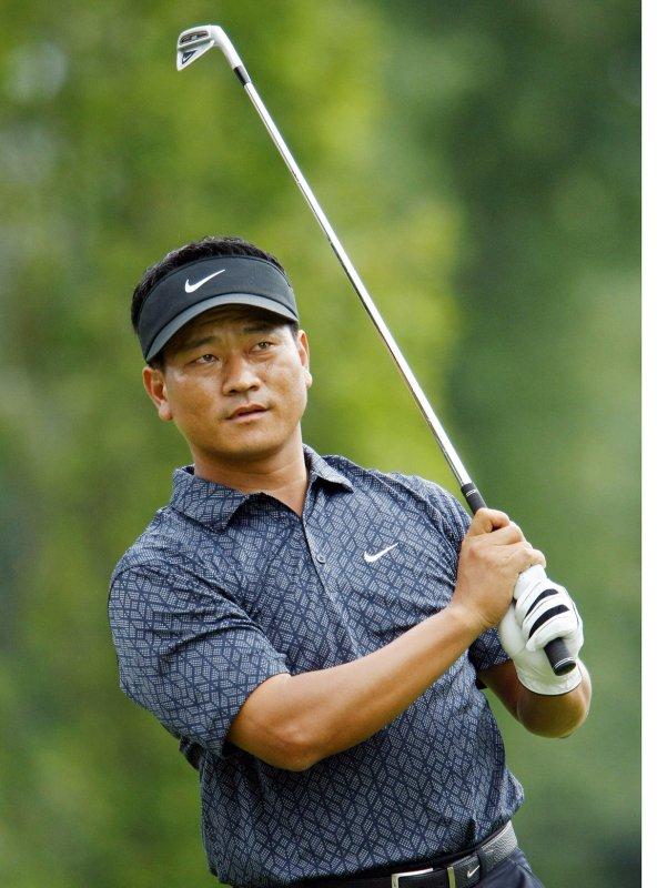 PGA golfer K.J. Choi, shown at the BMW Championship Sept. 7, 2008. (UPI Photo/Bill Greenblatt)