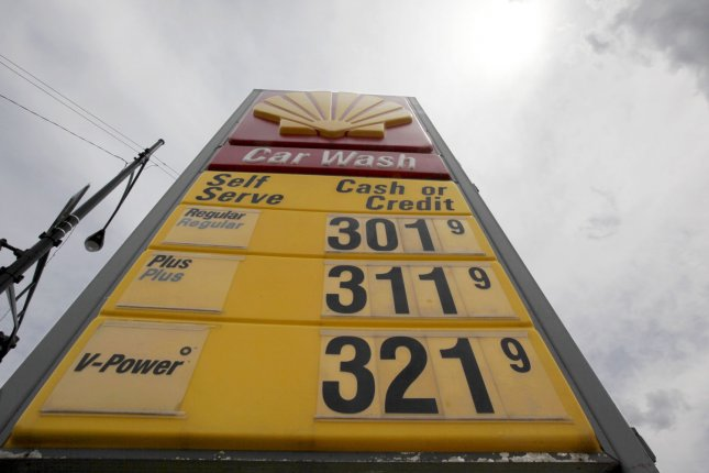 A Shell gasoline station displays prices exceeding three dollars per gallon in Chicago on July 15, 2009. (UPI Photo/Brian Kersey)