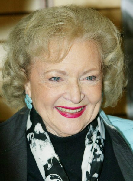 Both baby boomers and those age 100 want to invite Betty White to a dinner party. The top pick of centenarians is President Obama. (UPI Photo/Monika Graff)