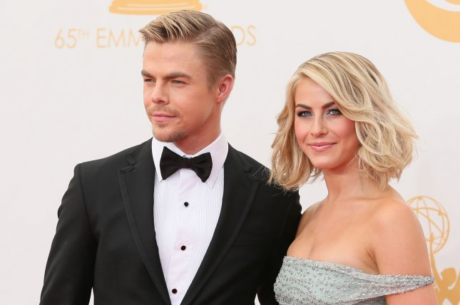 Julianne Hough (R) and Derek Hough will perform musical and dance numbers in Holidays with the Houghs. File Photo by Danny Moloshok/UPI