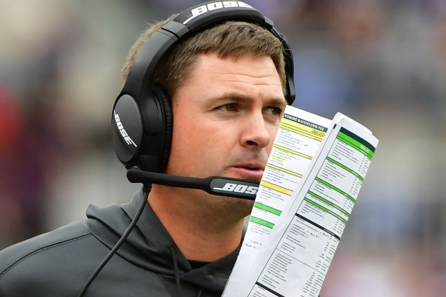 Zac Taylor will return for his third season as Cincinnati Bengals coach in 2021, despite the team's 6-25-1 record during his tenure. File Photo by David Tulis/UPI