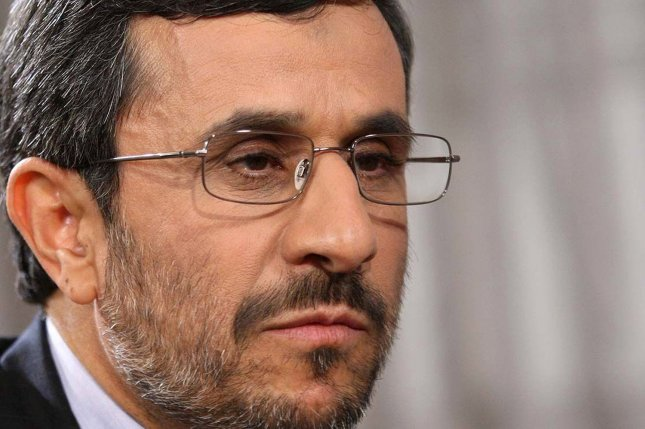 Iranian President Mahmoud Ahmadinejad whose forces allegedly have provided training to Syrian counter-protest efforts. UPI/Iranian Presidential Office