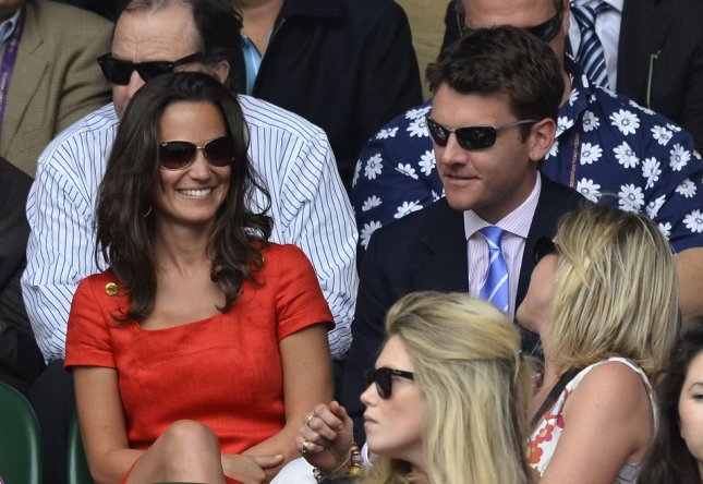 Pippa Middleton watches Swiss Roger Federer's match with France's Jo-Wilfried Tsonga on the ninth day of the 125th Wimbledon Championships in Wimbledon,England on Wednesday, June 29, 2011. UPI/Hugo Philpott