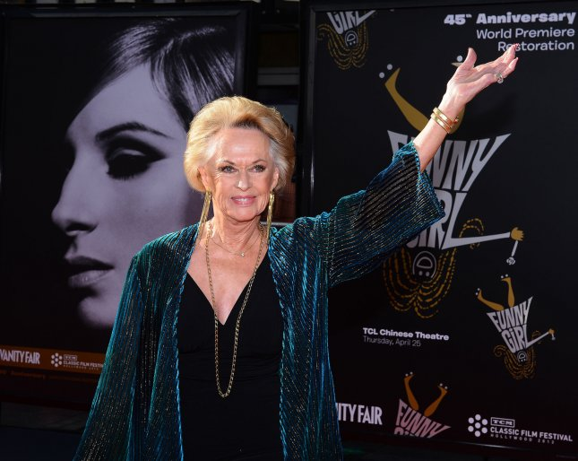 Tippi Hedren arrives for the world premiere of the 45th Anniversary Restoration of Funny Girl at the Opening Night Gala of the 2013 TCM Classic Film Festival at the TCL Chinese Theatre in the Hollywood section in Los Angeles on April 25, 2013. UPI/Jim Ruymen