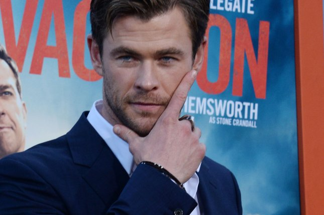 Chris Hemsworth attends the premiere of the motion picture comedy Vacation at the Regency Village Theatre in the Westwood section of Los Angeles on July 27, 2015. The actor will appear in Paul Feig's 'Ghostbusters' reboot as a glasses-wearing receptionist. Photo by Jim Ruymen/UPI