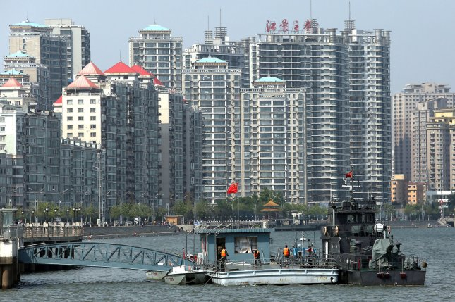 A view of the Chinese border city of Dandong. China is cracking down on businesses that have traded illegally with North Korea, sources near the border say. File Photo by Stephen Shaver/UPI