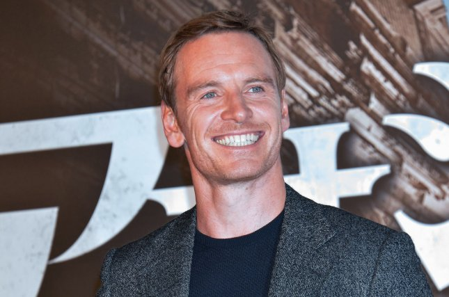 Michael Fassbender attends the stage greeting for Assassin's Creed in Tokyo, Japan, on February 15. Fassbender appears alongside Katherine Waterston and James Franco in a new cast photo for Alien: Covenant. Photo by Keizo Mori/UPI