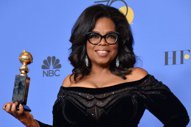 Oprah Winfrey showed off her A Wrinkle in Time Barbie doll in an Instagram video Saturday. File Photo by Jim Ruymen/UPI