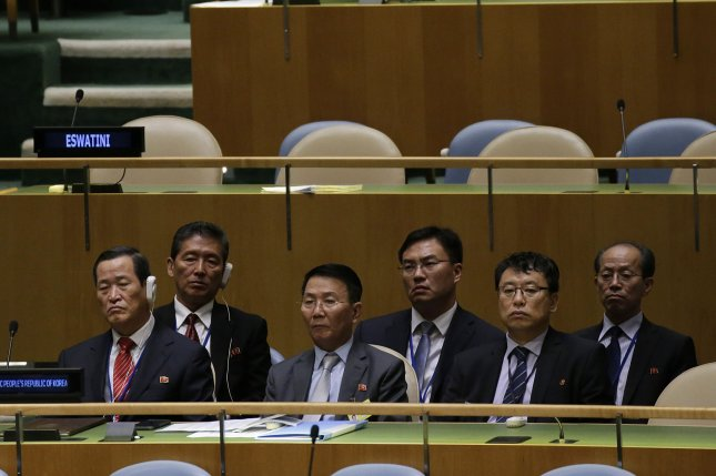 North Korean Ambassador to the United Nations Kim Song (L) has expressed opposition to Japan's membership at the U.N. Security Council. File Photo by John Angelillo/UPI