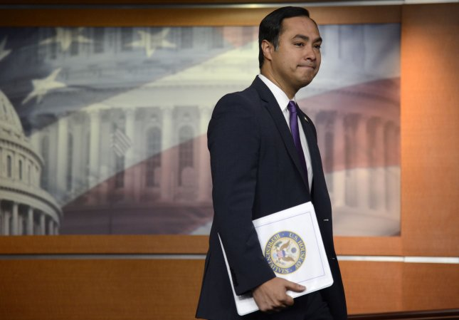 The House passed a resolution introduced by Rep. Joaquin Castro, D-Texas, overturning President Donald Trump's national emergency declaration to secure border funding. Photo by Mike Theiler/UPI