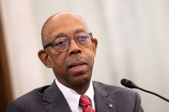 Michael Drake, chairman of the National Collegiate Athletic Association board of governors, testifies during a Senate commerce, science and transportation hearing Wednesday in Washington, D.C. Photo by Kevin Dietsch/UPI