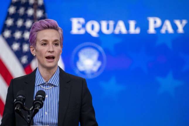 The United States Women's National Team on Wednesday appealed a ruling by a California federal judge rejecting their claims that they are not paid equally to their male counterparts. File Pool Photo by Shawn Thew/UPI
