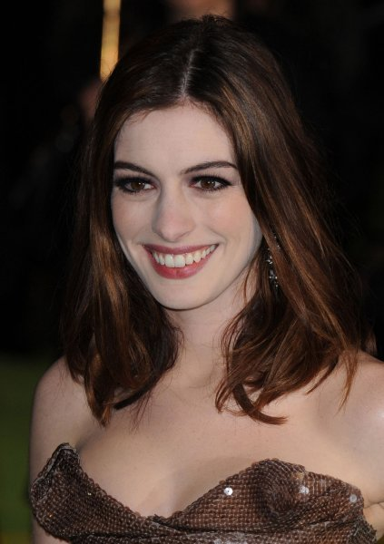 American actress Anne Hathaway attends the World premiere of Alice In Wonderland at Odeon, Leicester Square in London on February 25, 2010. UPI/Rune Hellestad
