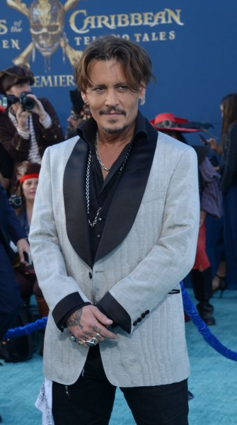 Cast member Johnny Depp attends the premiere of the premiere of the motion picture fantasy Pirates of the Caribbean: Dead Men Tell No Tales in Los Angeles on May 18. Photo by Jim Ruymen/UPI