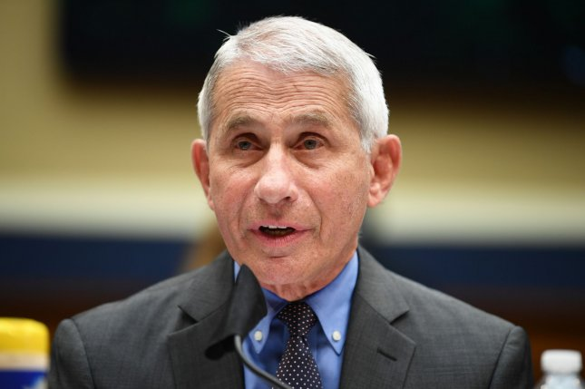 Director of the National Institute for Allergy and Infectious Diseases Dr. Anthony Fauci testifies Tuesday before the House Committee on Energy and Commerce on the Trump Administration's Response to the COVID-19 Pandemic. Photo by Kevin Dietsch/UPI