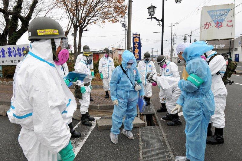 Japanese Prime Minister Yoshihide Suga said contaminated water at the Fukushima No. 1 plant needs attention. Tokyo plans to dispose the water into the ocean. File Photo by Keizo Mori/UPI