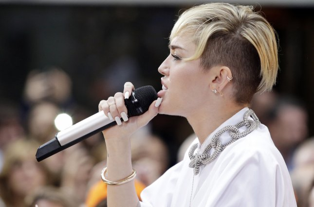 Miley Cyrus performs on the NBC Today Show at Rockefeller Center in New York City on October 7, 2013. UPI/John Angelillo