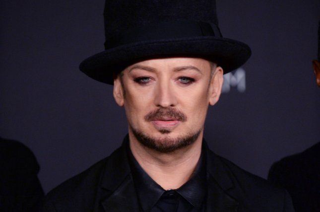Singer Boy George attends the fourth annual LACMA Art + Film gala honoring Barbara Kruger and Quentin Tarantino in Los Angeles on November 1, 2014. UPI/Jim Ruymen