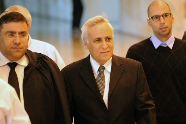 Former Israeli President Moshe Katsav, has been serving a seven-year prison sentence for sexual assault since December 2011. He and his family are appealing for clemency from the current Israeli president. Photo by UPI/Debbie Hill