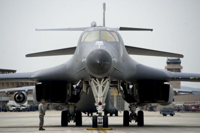 The possible deployment of the B-1B strategic bomber from Andersen Air Force Base in Guam for an upcoming U.S.-South Korea military exercise is being discussed, according to Yonhap. Photo by Jonathan Steffen/U.S. Air Force/UPI