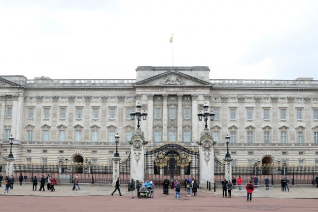 Buckingham Palace, the home of Queen Elizabeth II and Prince Philip, is pictured in London, Britain, on March 23, 2017. File Photo by Hugo Philpott/UPI