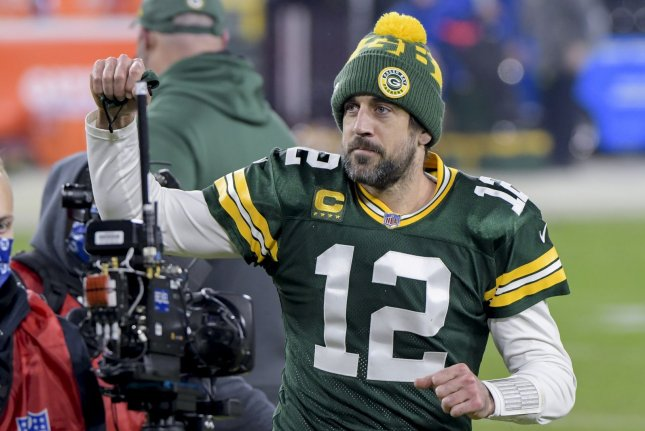 Green Bay Packers quarterback Aaron Rodgers skipped this week's organized team activities and has not said when, or if, he plans to return to the team for off-season workouts. File Photo by Mark Black/UPI