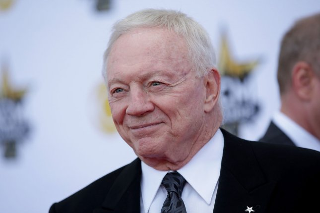Dallas Cowboys owner and general manager Jerry Jones is open to discussions about putting an NFL team in Las Vegas. Photo by John Angelillo/UPI