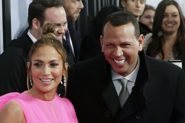 Jennifer Lopez (L), pictured with Alex Rodriguez, discussed daughter Emme's future in show business in a new interview. File Photo by John Angelillo/UPI