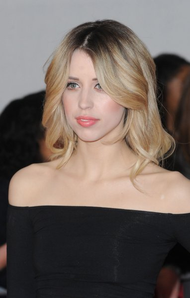 British journalist, television presenter and model Peaches Geldof attends The Brit Awards 2014 at The O2 Arena in London on February 19, 2014. UPI/Paul Treadway