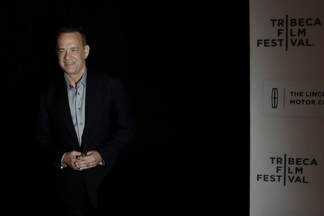 Tom Hanks arrives on the red carpet at the A Hologram for the King premiere at the 2016 Tribeca Film Festival on April 20, 2016 in New York City. Photo by John Angelillo/UPI
