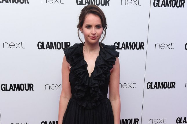 Felicity Jones attends The Glamour Women Of The Year Awards on June 6. Jones is set to portray Ruth Bader Ginsburg in On the Basis of Sex. File Photo by Rune Hellestad/ UPI