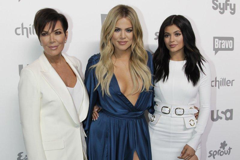 Kris Jenner (L), pictured with Khloe Kardashian (C) and Kylie Jenner, gave an update on Kardashian. File Photo by John Angelillo/UPI