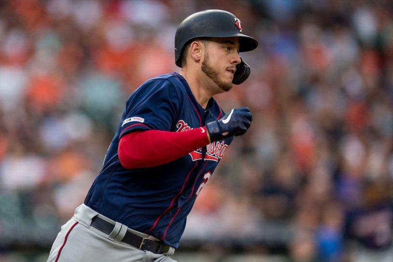 Minnesota Twins first baseman/designated hitter C.J. Cron has 13 home runs this year. File Photo by Trask Smith/UPI