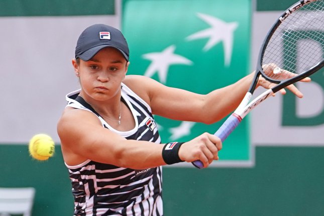 Australian Ashleigh Barty is looking to win her first Grand Slam after beating American Sofia Kenin in the round of 16 of the 2019 French Open on Monday at Roland Garros in Paris. Photo by David Silpa/UPI