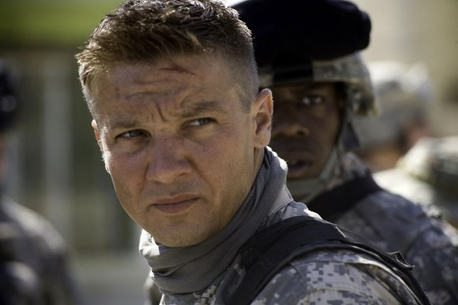 A scene from The Hurt Locker is pictured in this undated publicity photo released to UPI. Jeremy Renner, pictured, was nominated for best actor for the 82nd Academy Awards, announced in Beverly Hills, California on February 2, 2010. The Oscars will be presented March 7, 2010 at the Kodak Theatre in Los Angeles. UPI/Fox Searchlight/Handout