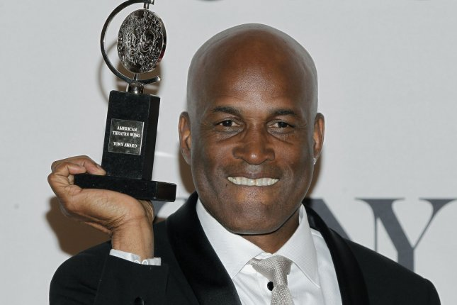 Kenny Leon of Raison in the Sun holds his Tony Award for Best Direction of a Play in the press room during 68th Tony Awards at Radio City Music Hall in New York City on June 8, 2014. The annual awards, which are presented by the American Theatre Wing, recognizes the achievements of Broadway theater. UPI/John Angelillo.