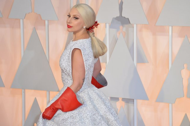 Lady Gaga arrives on the red carpet at the 87th Academy Awards at the Hollywood & Highland Center in Los Angeles on February 22, 2015. Photo by Kevin Dietsch/UPI