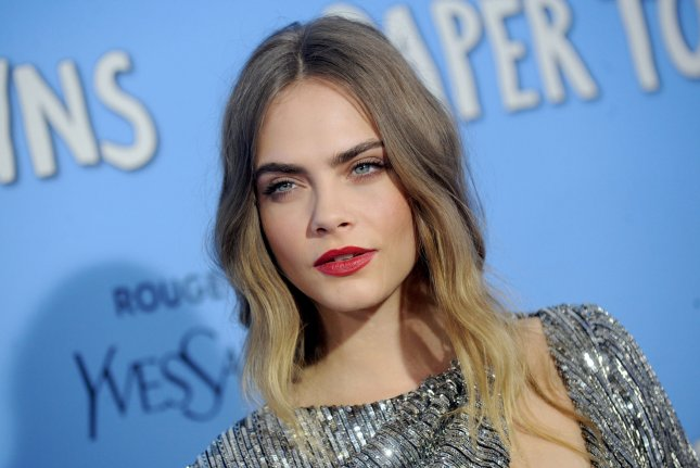 Cara Delevingne arrives on the red carpet at the New York premiere of 'Paper Towns' at AMC Loews Lincoln Square in New York City on July 21, 2015. Photo by Dennis Van Tine/UPI