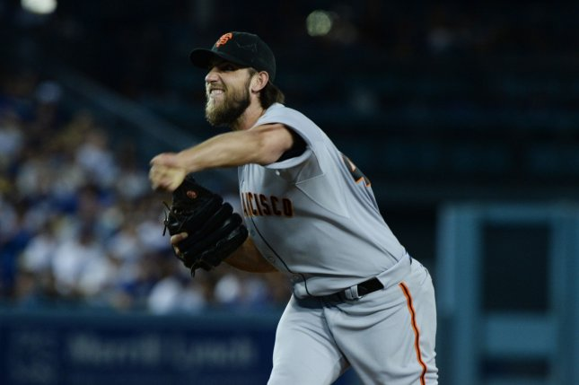 San Francisco starting pitcher Madison Bumgarner. Photo by Jim Ruymen/UPI