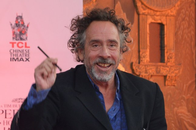 Director Tim Burton participates in a hand & footprint ceremony in the forecourt of TCL Chinese Theatre (formerly Grumman's) in Hollywood on September 8, 2016. Photo by Jim Ruymen/UPI