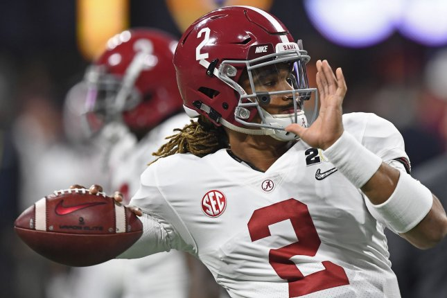 Jalen Hurts and the top-ranked Alabama Crimson Tide fought past the Georgia Bulldogs in the SEC championship game Saturday. Photo by David Tulis/UPI